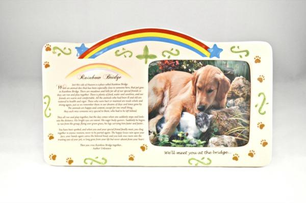 Pet Bereavement Photo Frame Rainbow Bridge Poem   Cards Plus