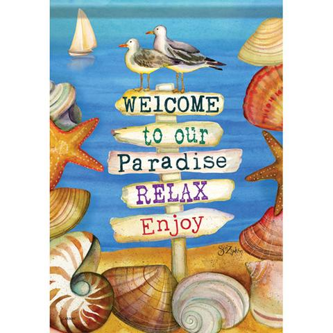 Welcome To Paradise Flag Cards Plus